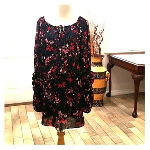 Parker Boho Dress Ruffle Sleeves